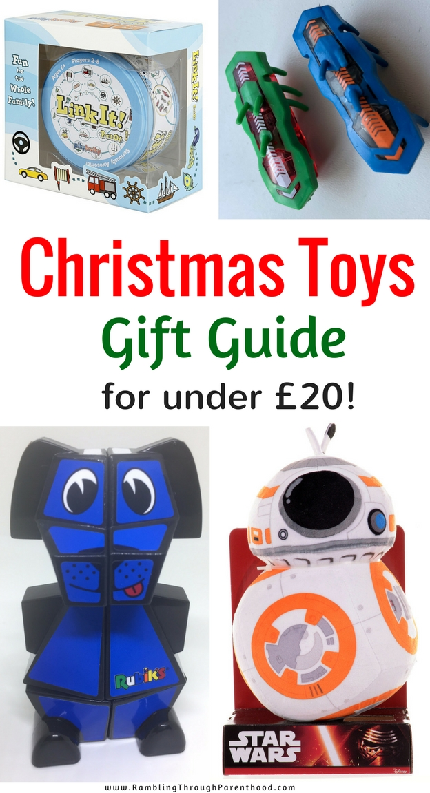 From cute and cuddly to high-tech and educational, here is a round up of toys and games that will make great Christmas presents. And all for under £20!