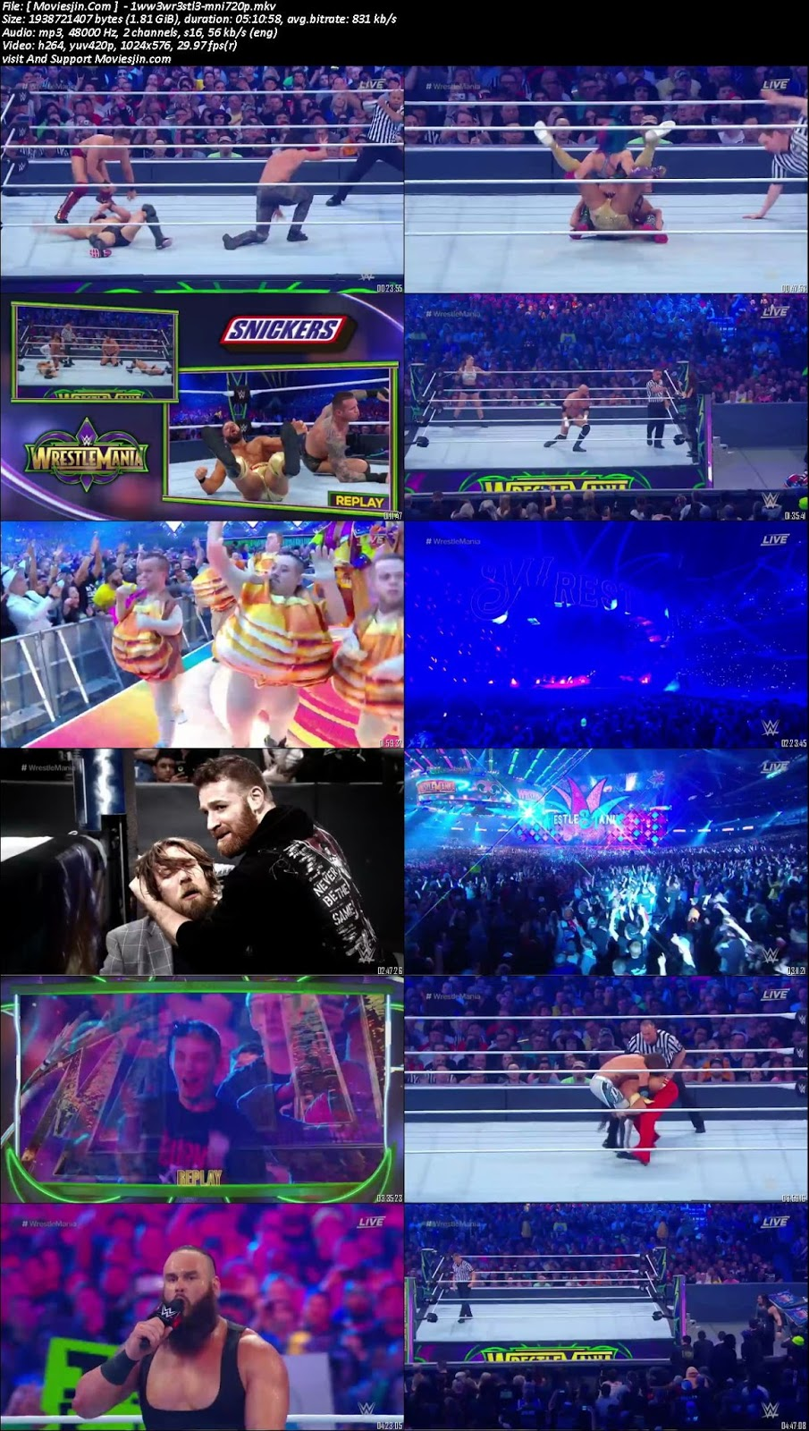 watch online WWE Wrestlemania 34thh 2018 PPV WEB-DL English 576p 9xmovies