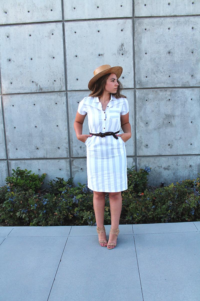 block heels, heeled sandals, cute dress