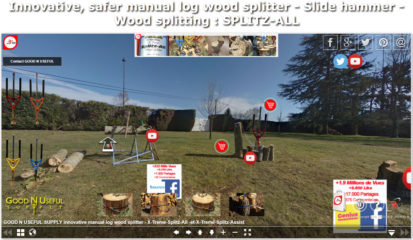 Splitting Wood Manually Has Never Been So Easy Using The Manual Sledge Hammer Splitz All Made In Usa