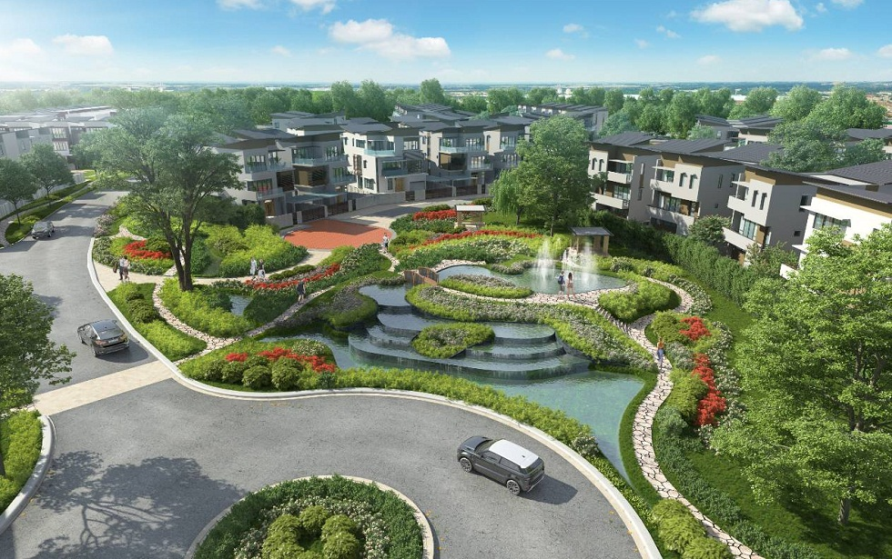 Cảnh quan mới Liền Kề Biệt Thự Gamuda Gardens