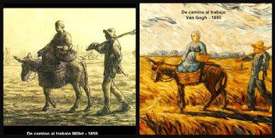 De camino al trabajo, Millet, Van Gogh