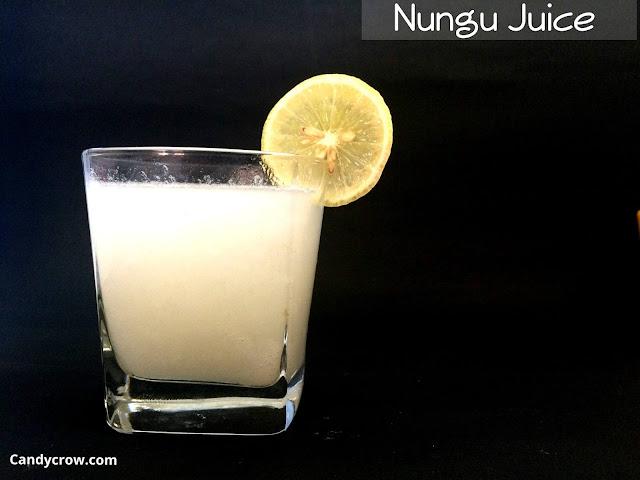 Nungu Juice / Ice Apple Juice Recipe