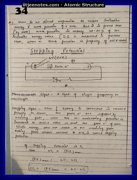 Atomic Structure Notes IITJEE2