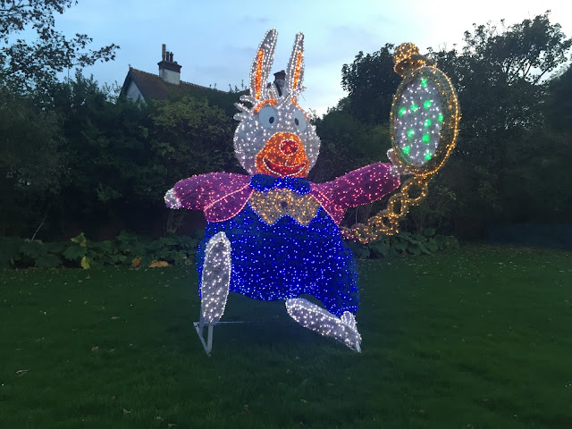 white rabbit light at sunderland illuminations