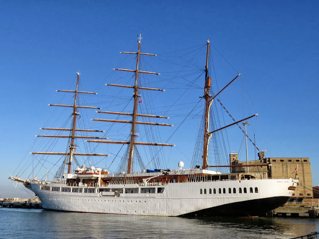 Sea Cloud II sail cruise ship, IMO 9171292, port of Livorno