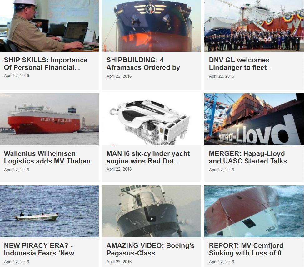 Maritime News 22 April 2016