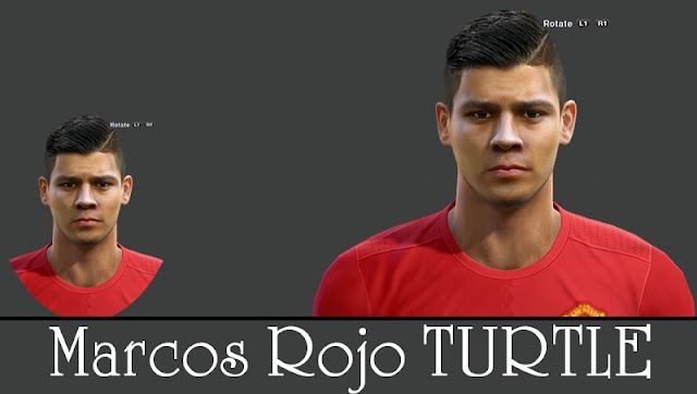 PES 2013 ROJO NEW FACE AND HAIR 2016 by Turtle Facemaker