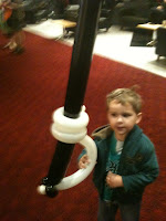 Big Boy at Brave Premier with Traditional Scottish Balloon Sword