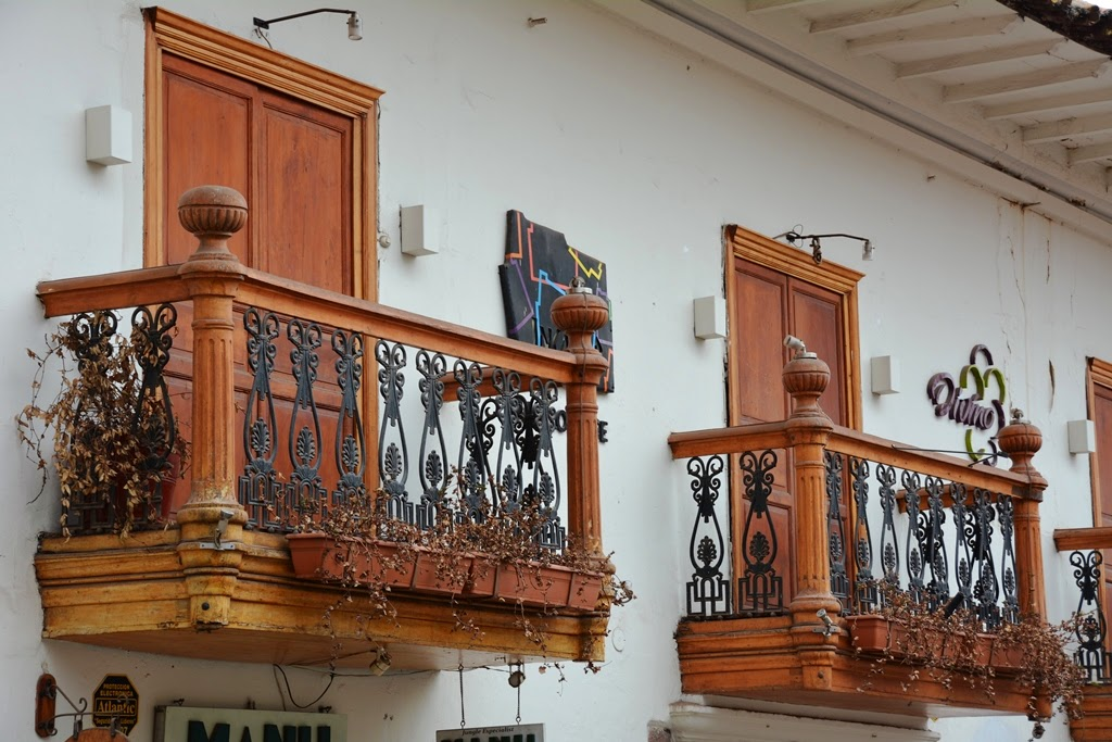 General Impressions of Cusco wooden balconies