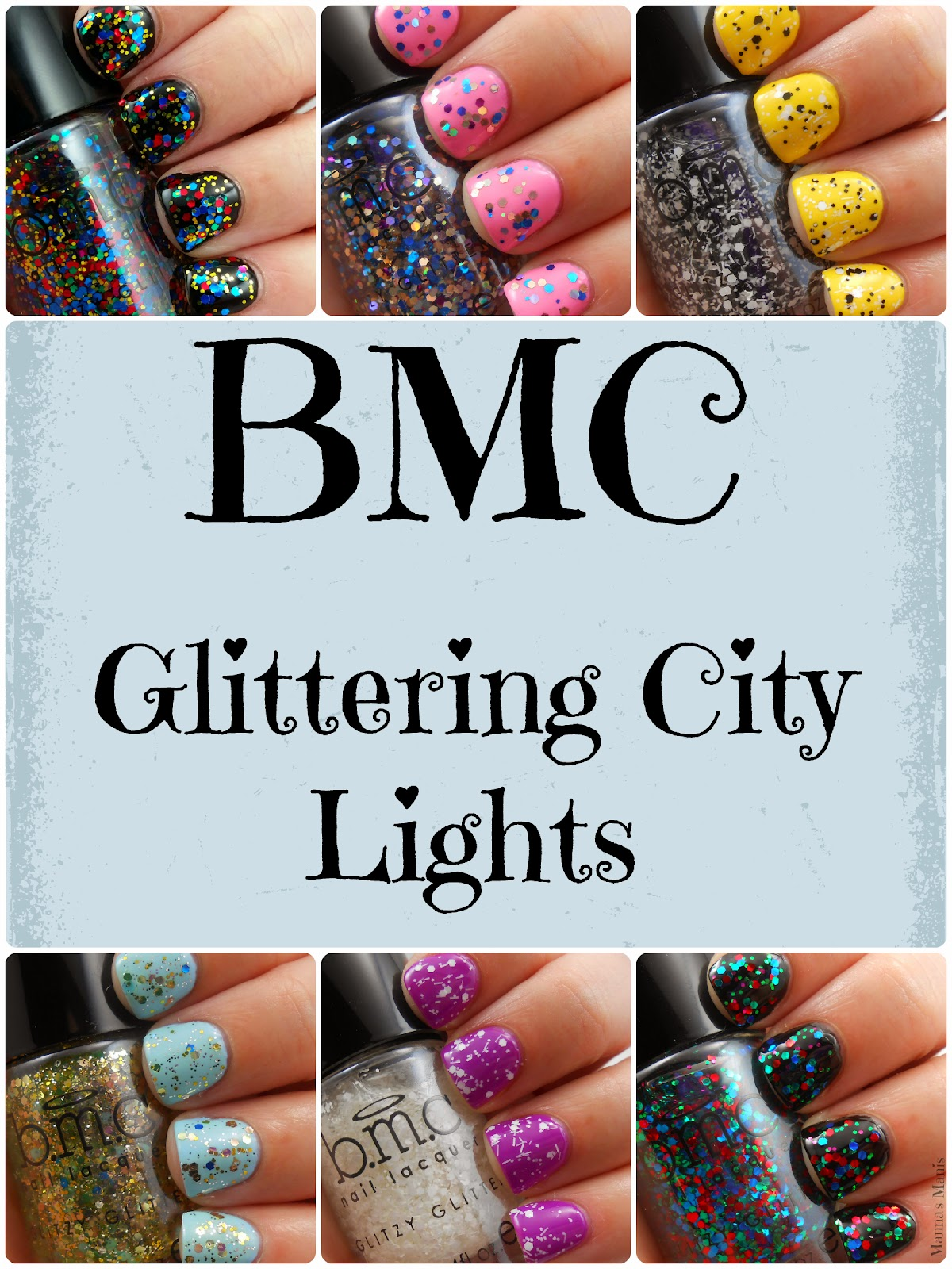 BMC Glitter City Lights nail polish collection