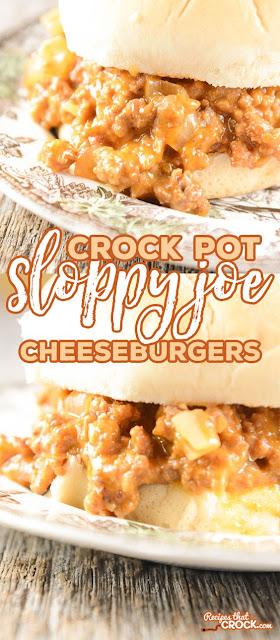 Crock Pot Sloppy Joe Cheeseburgers