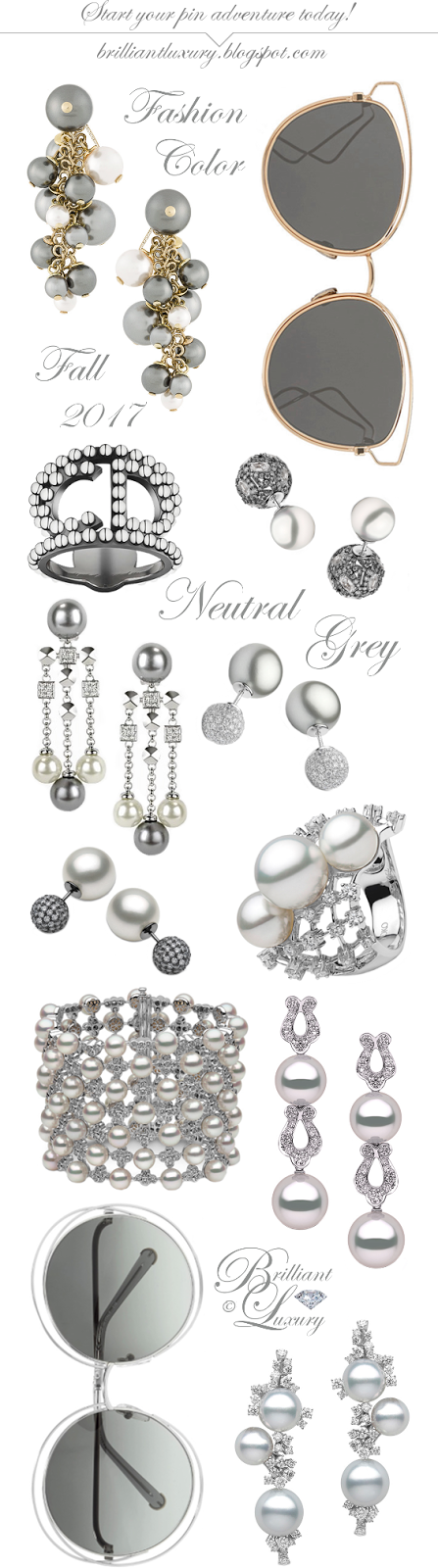 Brilliant Luxury ♦ Fashion Color Fall 2017 ~ neutral grey ~ jewelry