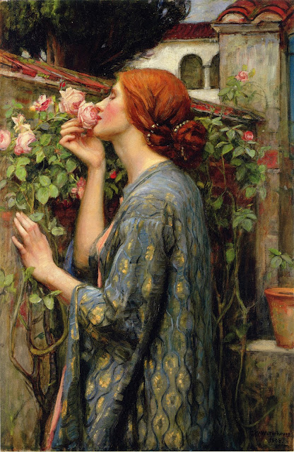 john william waterhouse - the soul of the rose, 1903