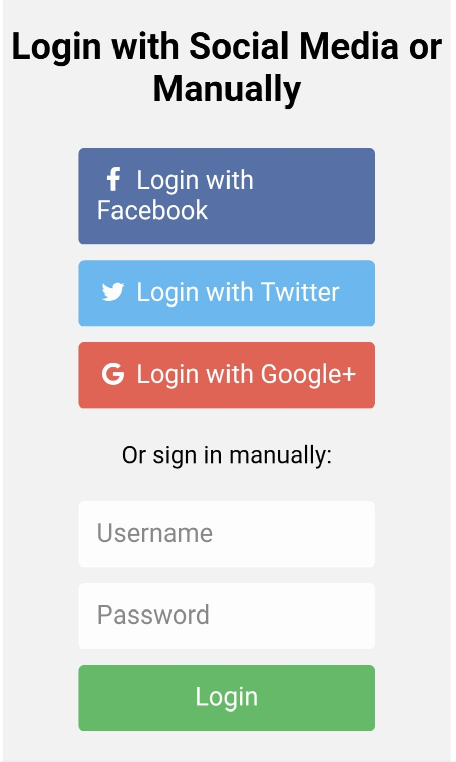 div class container form action action page php div class row h2 style text align center login with social media or manually h2 div