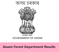 Assam Forest Department Results