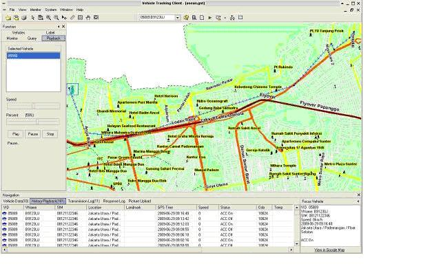monitoring GPS via aplikasi custom gis client