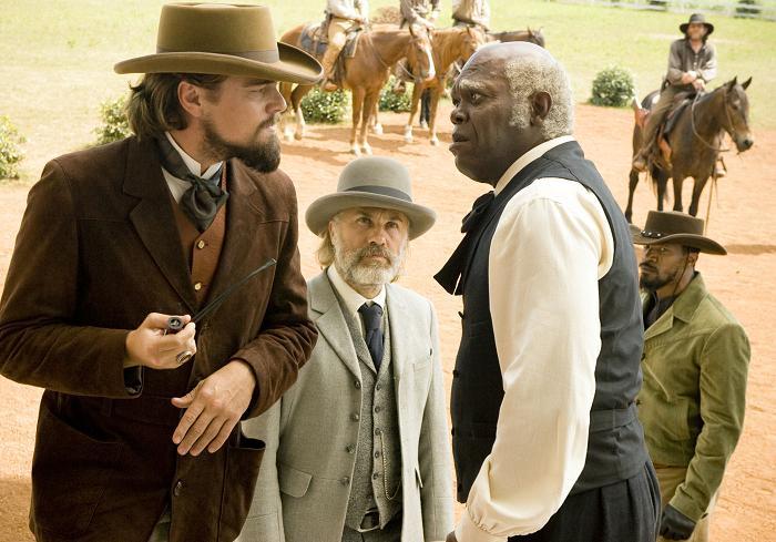 Candie Stephen con Django y Schultz