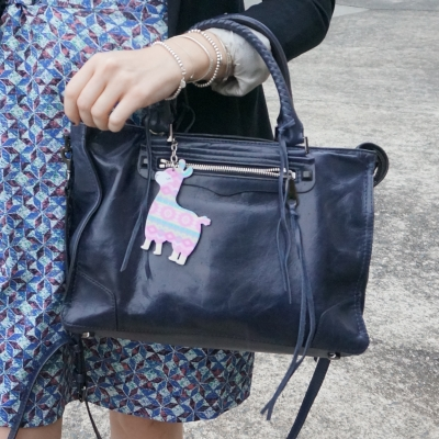 llama bag charm, Rebecca Minkoff Regan Satchel Tote in moon | awayfromtheblue