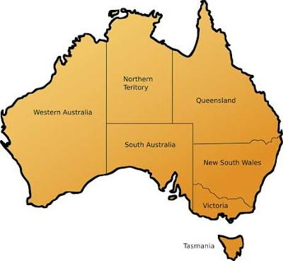 Australia map picture