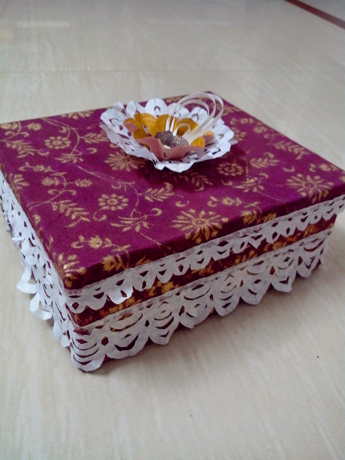 paper craft, handmade card, handmade box,