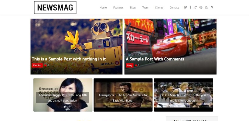 Newsmag Free Blogger Template