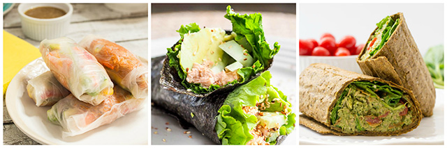 Tuna Wraps & Rolls Recipes: 17 Ideas for Using Canned Tuna Round-Up