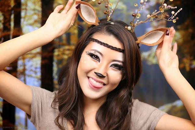 deer makeup tutorial halloween 2013 from head to toe. Black Bedroom Furniture Sets. Home Design Ideas