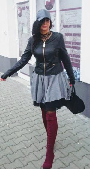 9224751e Kozaki za kolano - obcisłe muszkieterki do spódniczki | Modowy blog ...