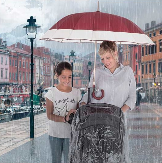 Soporte para paraguas carrito bebé