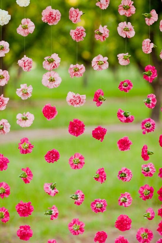 Prendada e Caprichosa Cortina de Flores