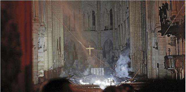 Κλαίει ο πλανήτης με την καταστροφή από τη φωτιά στην Παναγία των Παρισίων -Εικόνες θλίψης [εικόνες κ βίντεο]