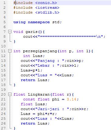 Belajar Bahasa Pemrograman C Contoh Program C Menggunakan Fungsi Non Void Fungsi Dengan Mengembalikan Nilai