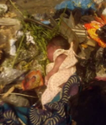 newborn baby abandoned mother dies refuse dump