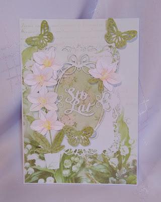 Kartka na urodziny -zielona