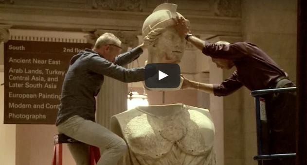 Η μεταφορά του μεγάλου αγάλματος της θεάς Αθηνάς στο  MET
