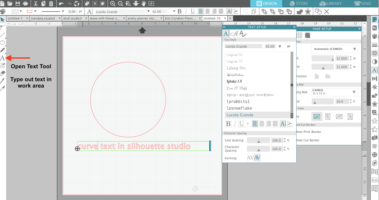 How to make text curve in silhouette studio 3 step tutorial how to curve text in silhouette studio wrap text word art silhouette studio pooptronica Choice Image