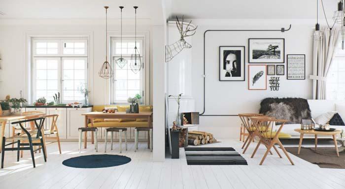 keltainen talo rannalla skandinaavista tyyli. Black Bedroom Furniture Sets. Home Design Ideas