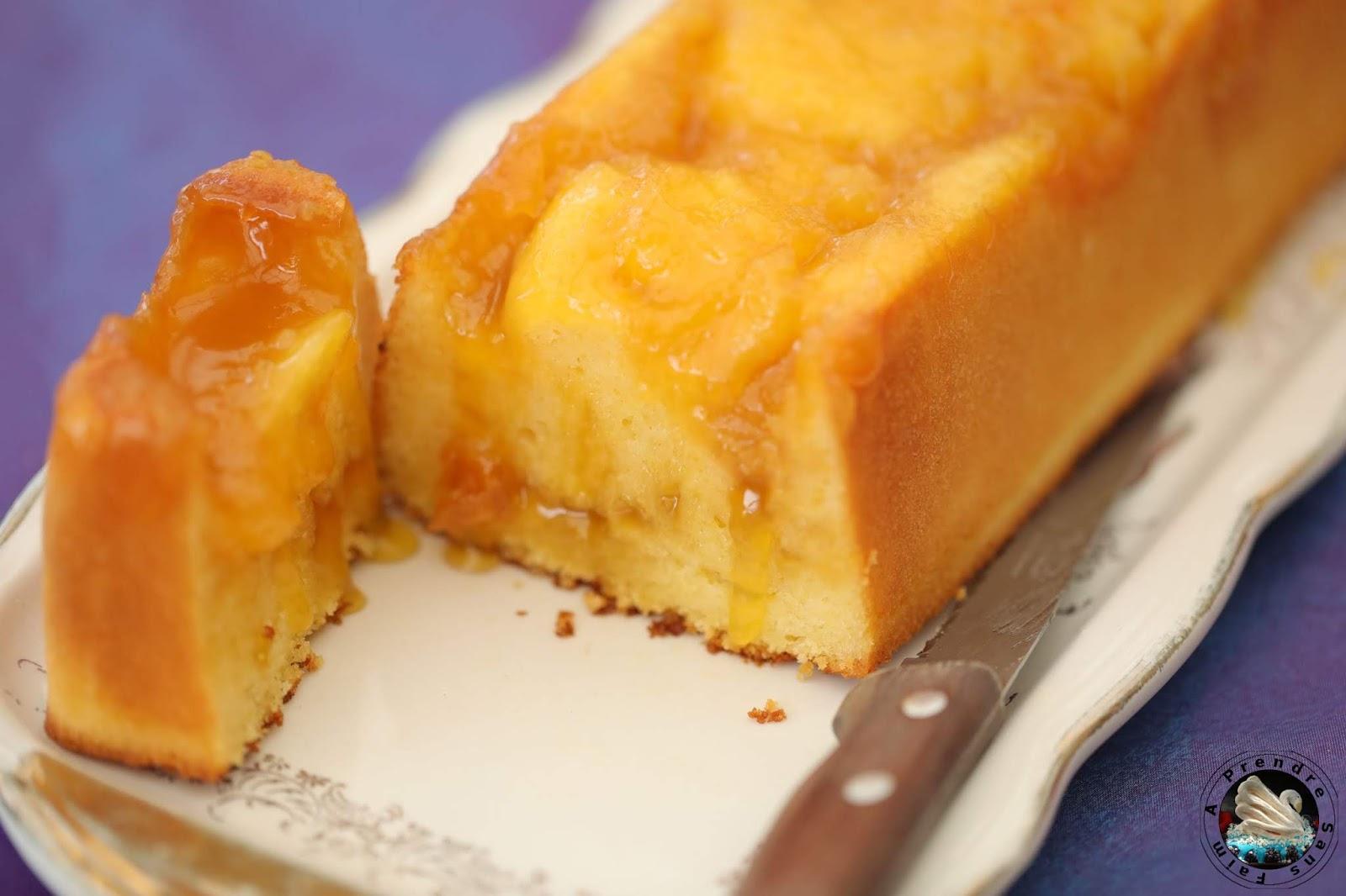 Cake citron cœur fondant