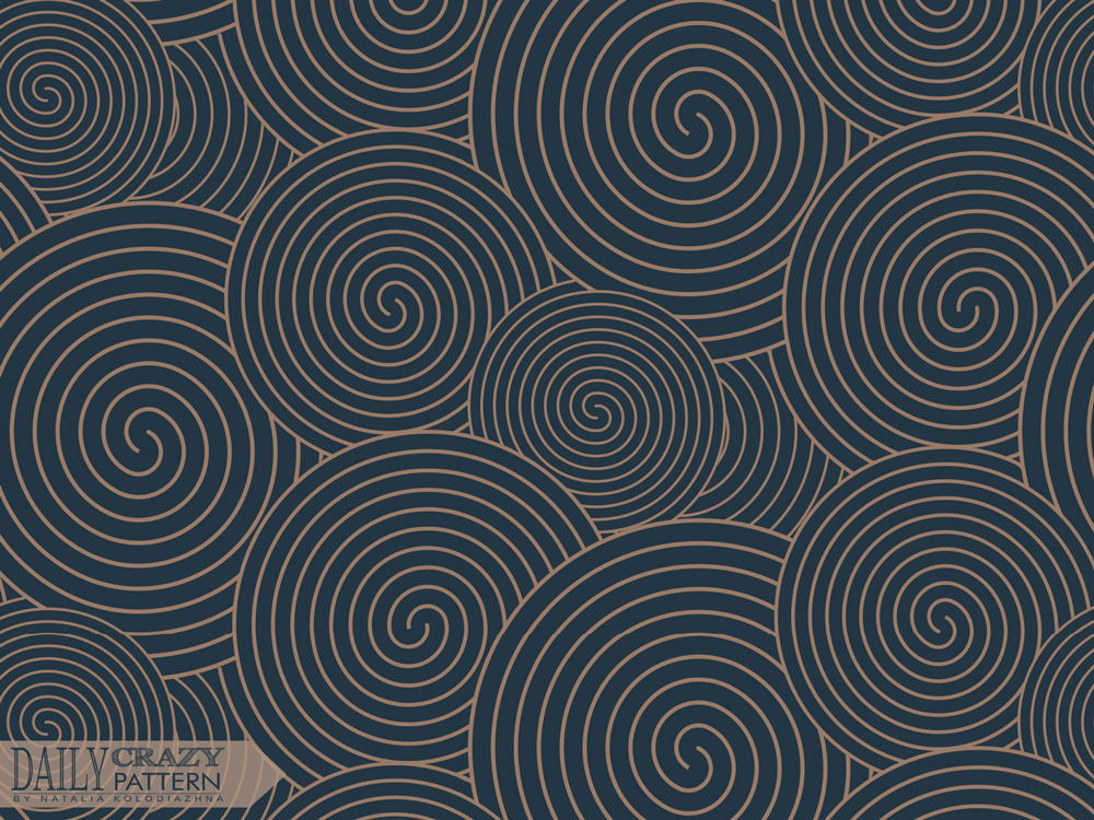 "Spiral pattern for ""Daily Crazy Pattern"" project"