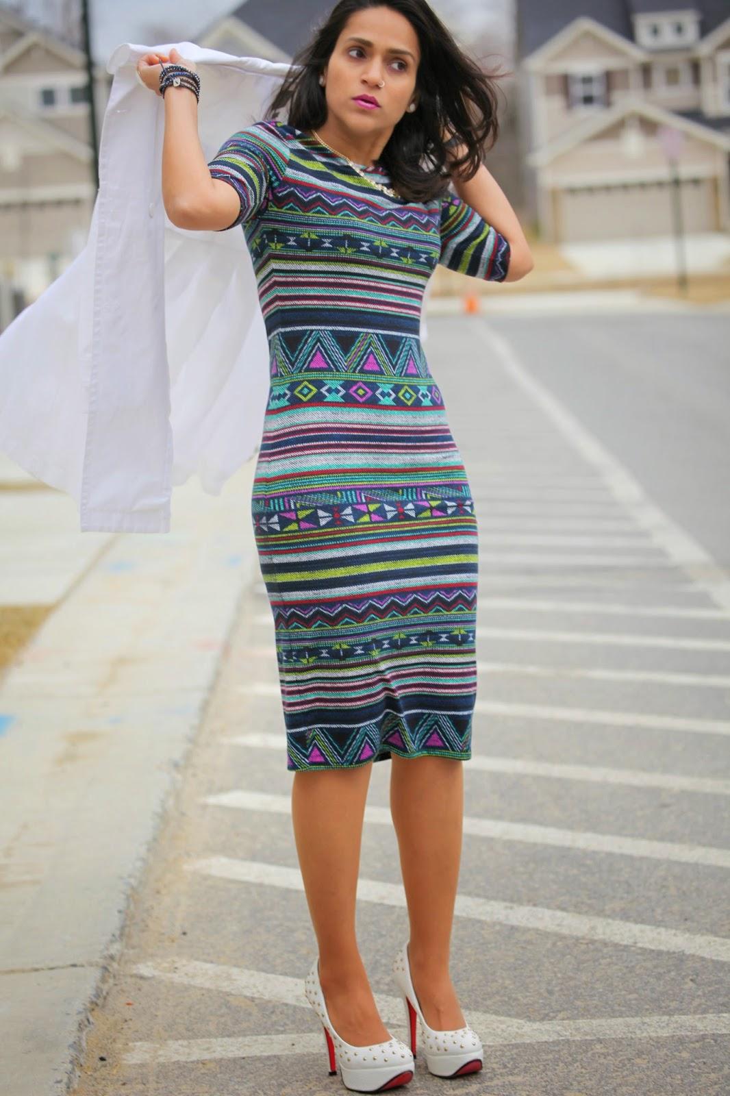 Dress  - Target  Shoes - Rare Jacket - Armani Jewelry - Rocksbox Tanvii.com