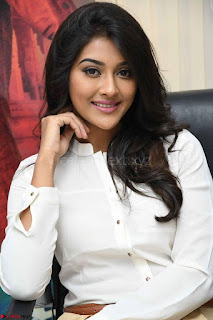 Pooja Jhaveri in White Shirt and Brown  Trousers Spicy Pics