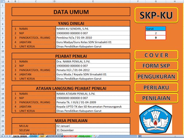 Download Aplikasi SKP Format Excel