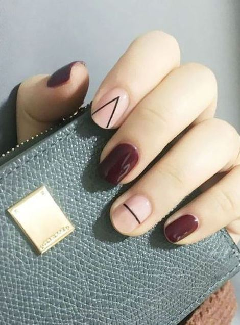 trendy fall nail art