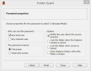 cara kunci folder di windows dengan software