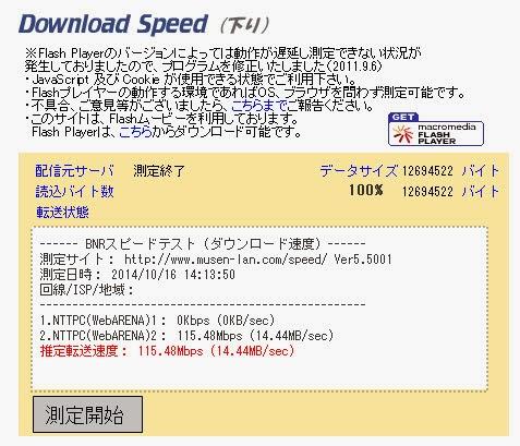 下り115.48Mbps