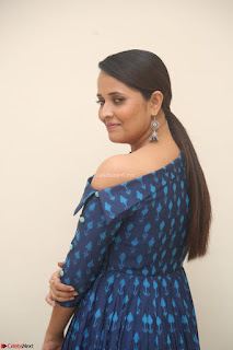 Anchor Anasuya in a Blue Gown at Jai Lava Kusa Trailer Launch ~  Exclusive Celebrities Galleries 026.JPG