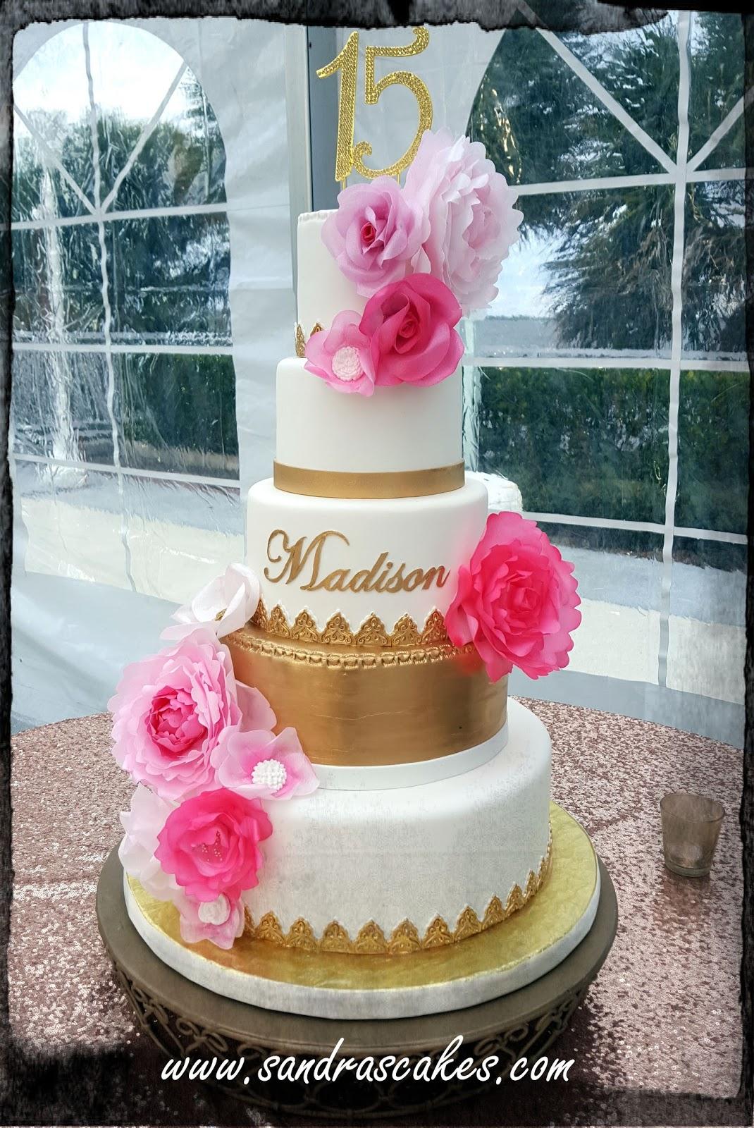 Astounding Madisons 15Th Birthday Cake Birthday Cards Printable Riciscafe Filternl