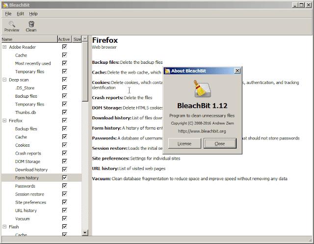 شرح البرنامج الخرافي BleachBit لصيانة الويندوز وتسريعه وحل مشاكله