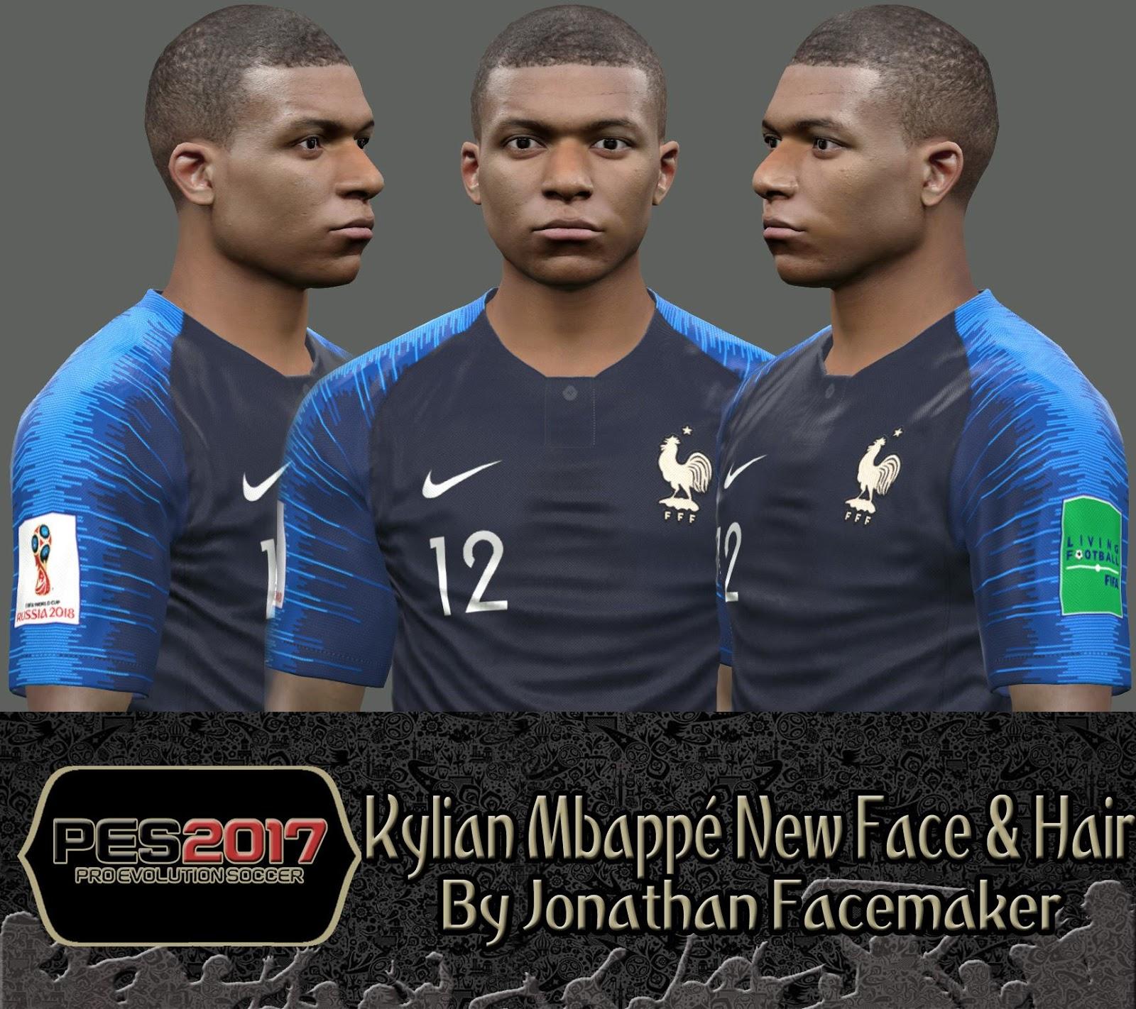 PES 2017 Kylian Mbappé New Face & Hair